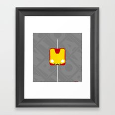 Marshmallow Iron Man Framed Art Print