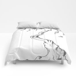 Floating Tree #1 Comforters