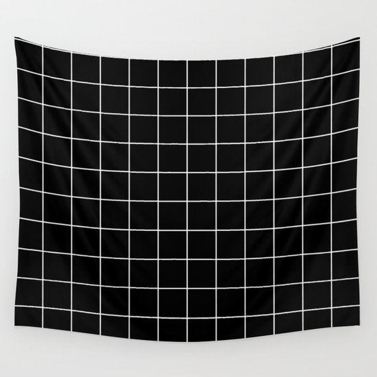 Grid Pattern Line Stripe Black and White Minimalist Geometric Stripes Lines by beautifulhomes