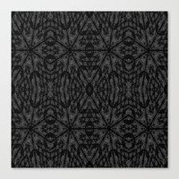 gray pattern Canvas Prints featuring Slate Gray Black Pattern by 2sweet4words Designs