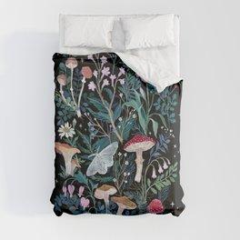 Night Mushrooms Comforters