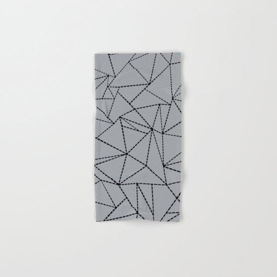 Ab Dotted Lines B on Grey Hand & Bath Towel