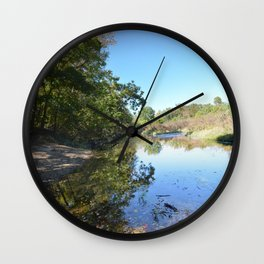 Where Canoes and Raccoons Go Series, No. 27 Wall Clock