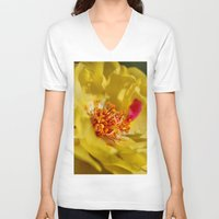 moss V-neck T-shirts featuring Moss Rose by IowaShots