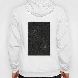 Universe Space Stars Planets Galaxy Black and White Hoody