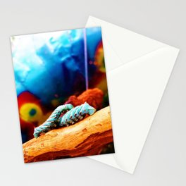 Blue Caterpillars Stationery Cards
