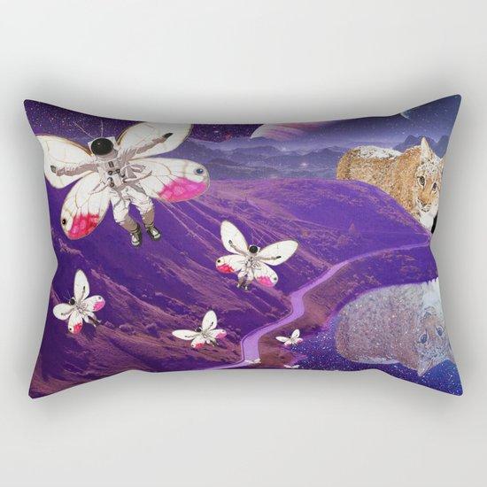 Astronaut-fly Rectangular Pillow