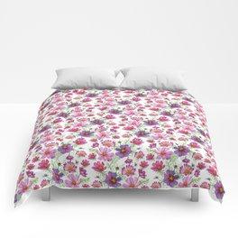Watercolor cosmo Comforters