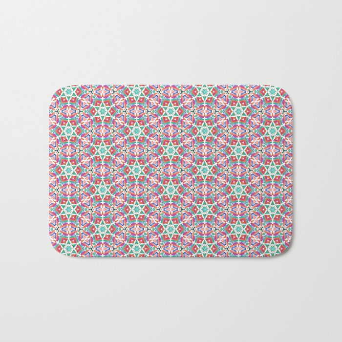 Watercolor Boho Dash 1 Bath Mat