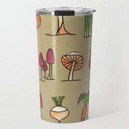 Vegetable Mushrooms food pattern Travel Mug