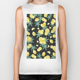 Lemon Twist Vibes #5 #tropical #fruit #decor #art #society6 Biker Tank