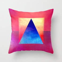 Triangle Composition VIII Throw Pillow