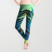 wings Leggings featuring Macaw Wings by Marta Li