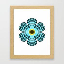 Hippie Geometric Flower Framed Art Print