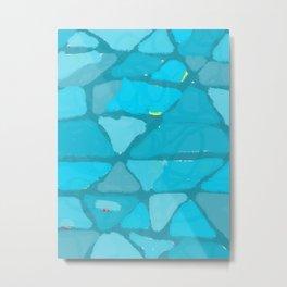 Abtract blue blotches Metal Print