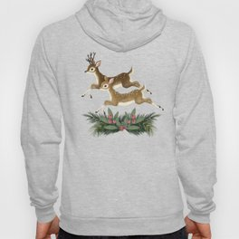 winter deer // repeat pattern Hoody