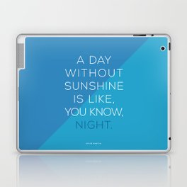 A Day Without Sunshine. Laptop & iPad Skin