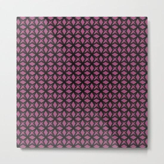 Rose Black Replay Metal Print