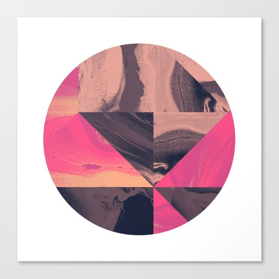 Triangular Magma Canvas Print