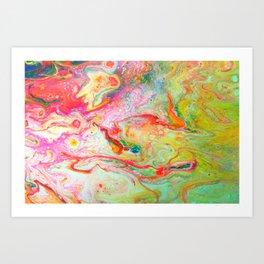 Blazing Marble Art Print