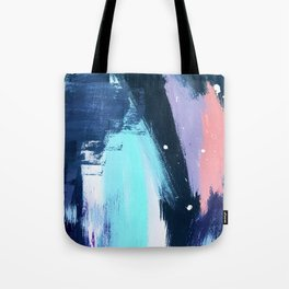 Playful [3]: a bold abstract piece in vibrant blues, pink, purple and white Tote Bag