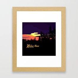 Kailua Kona Hawaii Sunset  Framed Art Print