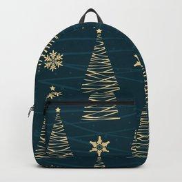 Golden Christmas Trees Backpack