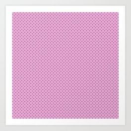 Dots Soft Pink Art Print