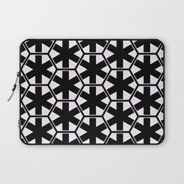 Multi Pattern Black and White Design Laptop Sleeve
