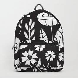 Blooming Field - black Backpack