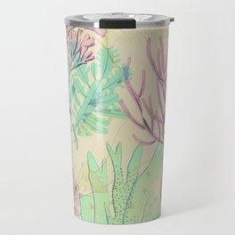 Pastel seaweed pattern. Travel Mug