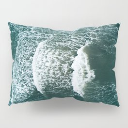 Wavy Waves on a stormy day Pillow Sham