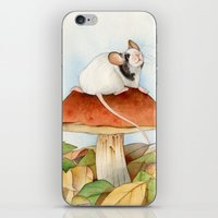 beaver iPhone & iPod Skins featuring Mouse & Beaver by Patrizia Donaera ILLUSTRATIONS
