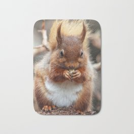 nutty squirrel Bath Mat