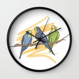Birdie Sitting Wall Clock