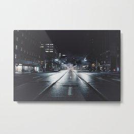 street in the night Metal Print