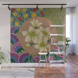 Jasmine Flower  Mandala  Wall Mural