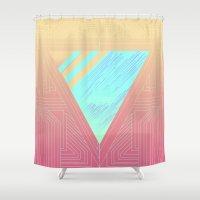 selena gomez Shower Curtains featuring 713 by Edgar Gomez UniverZ7