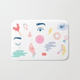 COLORFUL  GIRLS THINGS Bath Mat