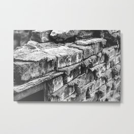 Bricks and Bridges Metal Print
