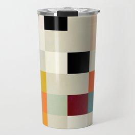 modern mid century chequers Travel Mug