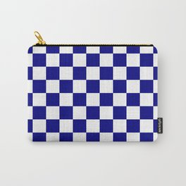 Checker (Navy Blue/White) Carry-All Pouch