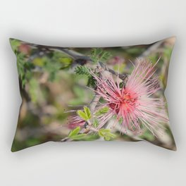 Desert Wildflower Bush Rectangular Pillow