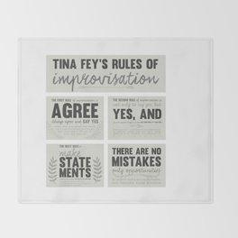 Tina Fey's Rules of Improvisation Throw Blanket