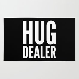 HUG DEALER (Black & White) Rug