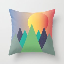 Mountains - The Sunset Throw Pillow