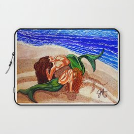 Mermaids Spent Lovers Beach Ocean Shells Sea Sand Waves Nude Women Red Head Passion Couple Laptop Sleeve