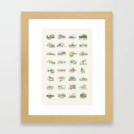 Modern Homes Framed Art Print