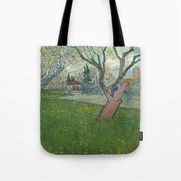 Orchards in blossom by Vincent van Gogh, 1889 Tote Bag