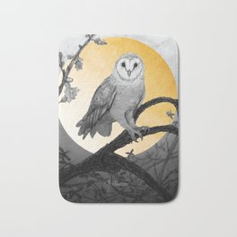 Golden Owl Bath Mat